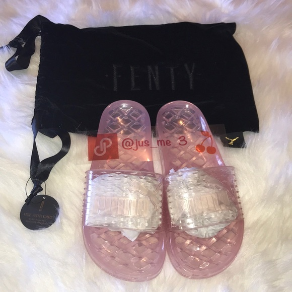 NEW Puma Fenty Jelly Slides Size 7.5 Pink fee651cbc60d